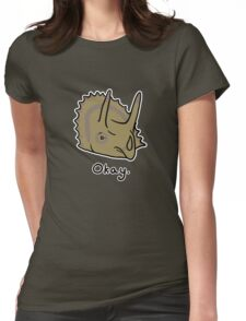 Okay Triceratops  Womens Fitted T-Shirt