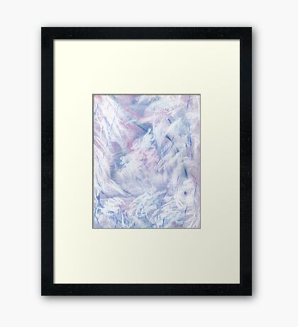 Snowstorm - abstract winter landscape Framed Print