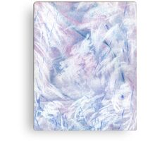 Snowstorm - abstract winter landscape Canvas Print