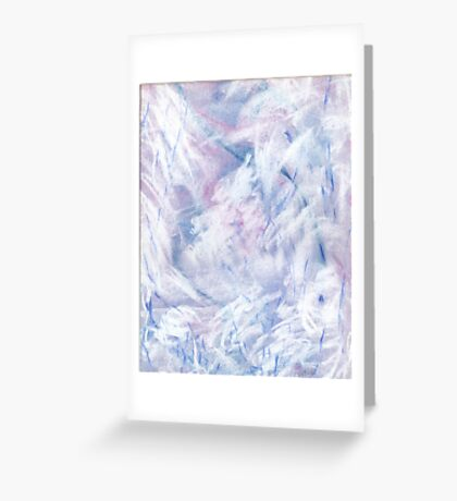 Snowstorm - abstract winter landscape Greeting Card