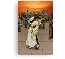 Han and Leia Kiss Canvas Print