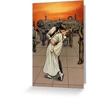 Han and Leia Kiss Greeting Card