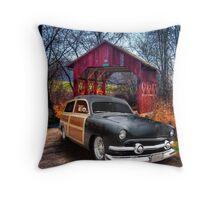 Little Covered bridge-2 Throw Pillow