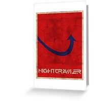 Minimalist Nightcrawler Greeting Card
