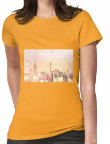 New York City - Skyscrapers Womens Fitted T-Shirt