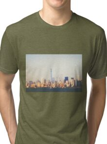 New York City Skyline with One World Trade Center Tri-blend T-Shirt