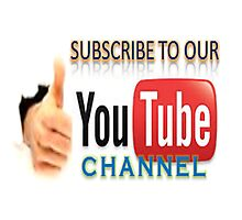 Subscribe to our YouTube channel! Photographic Print