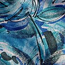 Abstract design on fabric by Ann Reece