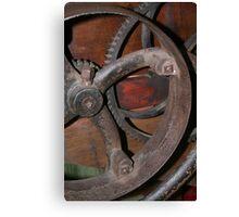 Old Farm Equipment Gear Canvas Print