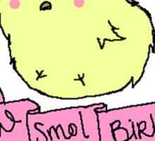 CommanderHolly and the Smol Birbs Sticker