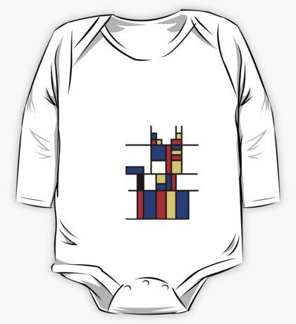 Mondrian's cat One Piece - Long Sleeve