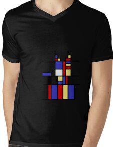 Mondrian's cat Mens V-Neck T-Shirt