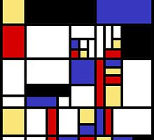 Mondrian's cat by ModernArtsAwe