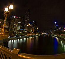A Princes Bridge view of Melbourne's Southbank by Norman Repacholi