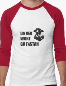 Da Red Wunz go Fastah Men's Baseball ¾ T-Shirt