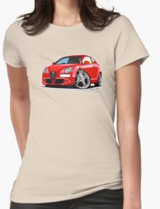 Alfa Romeo MiTo Red Womens Fitted T-Shirt