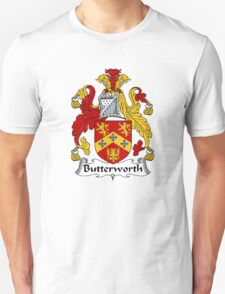 Coat of arms (family crest) for last-name or surname Butterworth . Heraldry banner for your name. T-Shirt