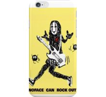 Noface can ROCK OUT! iPhone Case/Skin