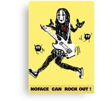 Noface can ROCK OUT! Canvas Print