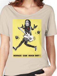 Noface can ROCK OUT! Women's Relaxed Fit T-Shirt