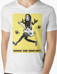 Noface can ROCK OUT! Mens V-Neck T-Shirt