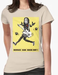 Noface can ROCK OUT! Womens Fitted T-Shirt