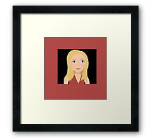 """One Girl In All The World"" - Buffy Summers Stylized Print Framed Print"