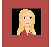 """""""One Girl In All The World"""" - Buffy Summers Stylized Print Photographic Print"""