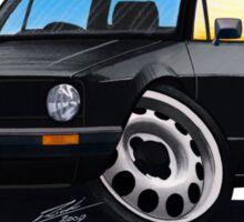 VW Caddy Black Sticker