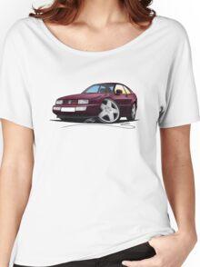 VW Corrado Maroon Women's Relaxed Fit T-Shirt