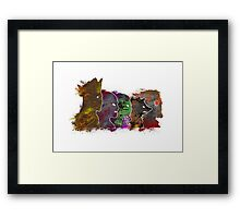 "A Splash of Heroism: ""Guardians of the Galaxy""  Framed Print"