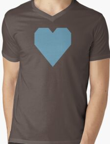 Moonstone Blue  Mens V-Neck T-Shirt