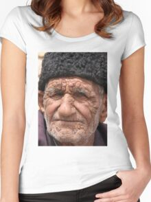 Old Man, Abarqu Women's Fitted Scoop T-Shirt
