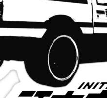 initial D logo Sticker