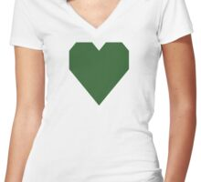 Mughal Green Women's Fitted V-Neck T-Shirt