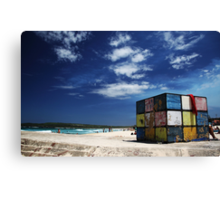 Rubiks Cube at Maroubra Canvas Print