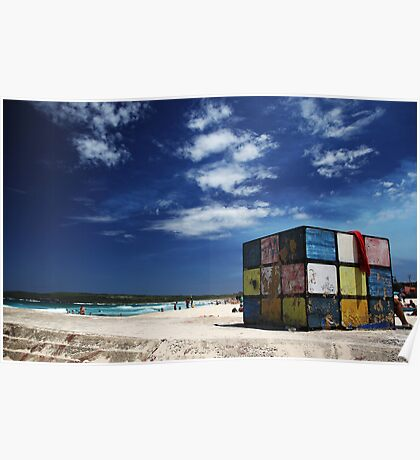 Rubiks Cube at Maroubra Poster