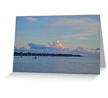 Storm clouds - Bribie Island Greeting Card