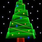 Christmas Tree Light Graffiti by TheFotoGraffer
