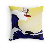 Surfing Hokusai Famous Wave Throw Pillow