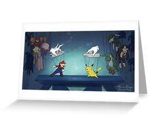 Super Smash Puppets Greeting Card