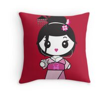 Geisha Grooves Throw Pillow