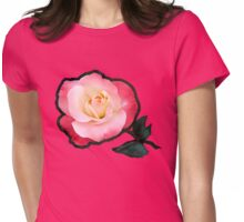 A Blushing Rose ~ Two Tone Beauty Womens Fitted T-Shirt