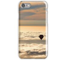 Up Above the Clouds in a Hot Air Balloon iPhone Case/Skin