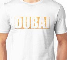 Dubai in Gold Graphic Unisex T-Shirt
