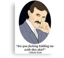 Tesla's NSFW Feelings Canvas Print