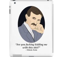 Tesla's NSFW Feelings iPad Case/Skin