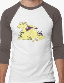Cute Lightning Dragon  Men's Baseball ¾ T-Shirt