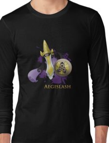 Aegislash Blade Forme With Name Long Sleeve T-Shirt