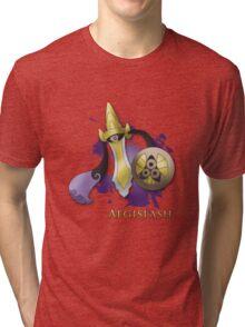 Aegislash Blade Forme With Name Tri-blend T-Shirt